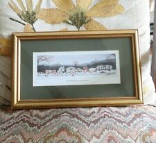 """Norman Rockwell Stockbridge at Christmas Print in Gold Frame Matted 12"""" x 7"""""""