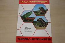 162829) Paul Auwärter Tandem 3 Seiten Kipper Prospekt 197?