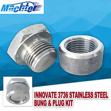 Innovate 3736 Motorsports Stainless Steel Exhaust Bung and Plug Kit