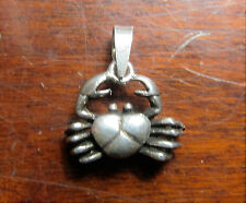 Crab Sterling Silver .925 Fine Cancer Pendant / Charm Gorgeous Jewelry