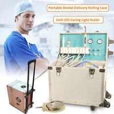 Dental Portable 4hole Unitsystem Mobile Delivery Rolling Box Air Compressor Us