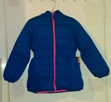 Blue & Pink Puffer Jacket For A Girl-Size 10-12-Many Great Features On Jacket!