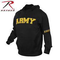 2055 Rothco Military Embroidered Army Pullover Hoodies - Black