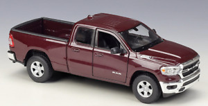 Welly 1:27 2019 Dodge Ram 1500 Pickup Diecast Model Racing Car NEW IN BOX Red