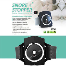 Snore Gone Cessation Stop Anti Snoring Watch Wristband Sleeping Guard + Battery