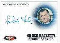James Bond Heroes & Villains Autograph Card A161 Gabriele Ferzetti Marc Draco