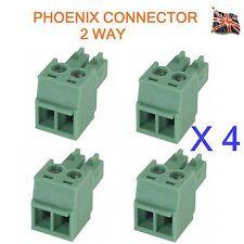 4 lotti di 2 Pin Connettore PHOENIX AUDIO PROFESSIONALE 2 VIE UK STOCK