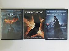 DARK KNIGHT TRILOGY DVDS BATMAN BEGINS, THE DARK KNIGHT, &  DARK KNIGHT RISES