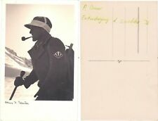 Mountaineer Paul Bauer old real photo PC 1930s. Himalaya Expedition Leader