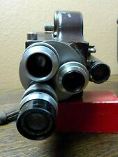 Emel 8mm Movie Camera with 3 Som Berthiot Paris Cinor Primes