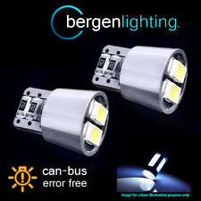 2X W5W T10 501 CANBUS ERROR FREE BIANCO 4 LAMPADINE LUMINOSE A LED PER TARGA