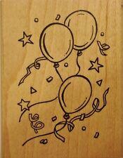 BALLOONS & CONFETTI Rubber Stamp 90875 Inkadinkado Fine Line Classics NEW! party