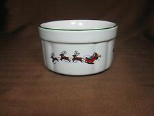Pfaltzgraff White Christmas Snow Village Dip Serving Bowl