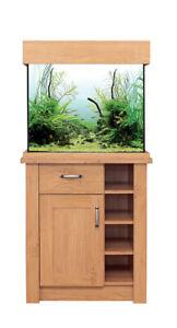 aqua one oak style aquarium 110L oak effect /urban grey edition filter,heater, a