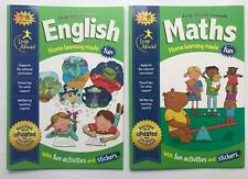 Leap Ahead Home Learning Maths English Workbook Bundle of 2 Children Age 7-8 KS2