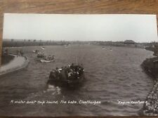 Motor Boat Trip round Lake Cleethorpes Empire View RPPC Lincolnshire Postcard