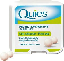 (Six Box) Quies Wax EARPLUGS - 8 Pairs Block Out Loud Noise protect hearing loss