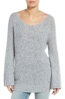 Hinge Slouchy Tunic Sweater Pullover Top New Grey Heather Women's Size Small