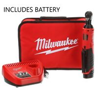 NEW Milwaukee M12 2457-21 12-Volt Cordless 3/8 in. Ratchet Kit w/ Battery, Chg