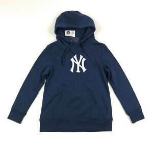 New York Yankees MLB Fanatics Womens Medium Navy Blue Pullover Hoodie Sweatshirt