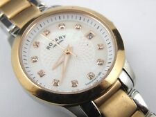 Womens LB02837/41 Stainless Steel and Rose Gold Plated Rotary Watch