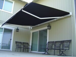 Luxury Retractable Folding Arm Awning in BLACK Awnings