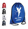 PERSONALISED Premium Drawstring Bag FAIRY Tinkerbell School Kit Sport Girls Boys