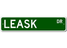 LEASK Street Sign - Personalized Last Name Signs