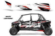 AMR Racing Dragonfire RZR 1000/900 4 Door Inserts Graphic Wrap Kit 4 Door WHITE
