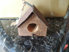 1 Birdhouse-Small-Wood Decoration 2 1/2 x 2 1/2 metal top
