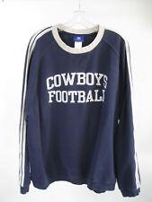Vtg Cowboys Football Reebok NFL Blue Pullover Distressed Sweatshirt Size 2XL