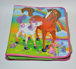 Vintage Lisa Frank Rainbow Horses Padded 3 Ring Zipper Binder Rare 1990s