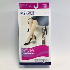 SIGVARIS Thigh-Hi Compression Stockings Sz LS Large sh 20-30 mmHg NUDE 842NLSW35