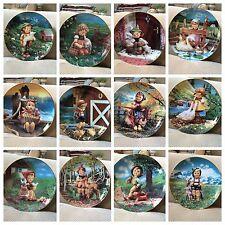 Complete Set Of 12 Collector Plates Mj Hummel Danbury Mint Gentle Friends
