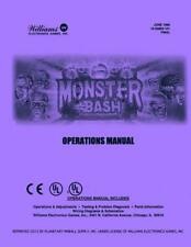 Monster Bash Pinball Machine Operations/Service/Repair Manual Williams Pps 2E/Vc