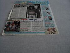 H254 DALLAS MARIANNE BACHMEIER REAGAN LARRY HAGMAN '2007 GERMAN CLIPPING