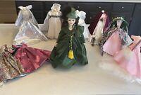 "Scarlett O'Hara Doll With 9 Additional 18"" Doll Dresses + Curtain dress 18"""