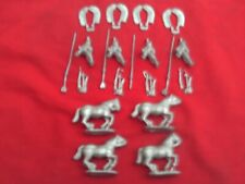 WARGAMES FOUNDRY 28mm RENAISSANCE POLISH 2-WINGED HUSSARS + WEAPONS X 4 NEW