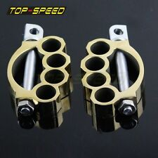 Motorcycle Brass Foot Pegs Rest Pedals Mount Kit For Harley Sportster Touring