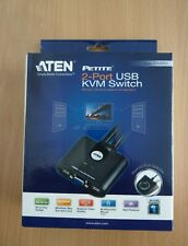 ATEN Cs22u KVM Switch VGA Monitor USB 2 Ports Verteiler