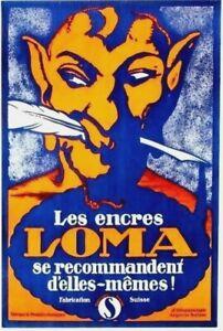 Original vintage poster LOMA ENCRE INK MEPHISTO 1914