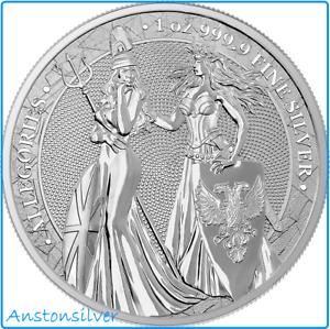 2019 Germania & Britannia Allegories 1 oz .9999 Silver