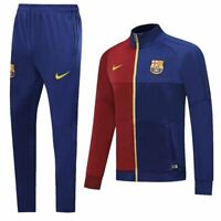 Barcelona Mens Red&Blue Soccer Training Sports Jersey Tracksuit Jacket Sets