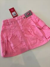 NWT 98 3 Yr Oilily Sua Pink Dye Twill Cargo Pocket Skirt Adjustable Waist