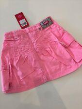 NWT 98 3 Yr Oilily Sua Pink Dye Twill Cargo Pocket Skirt Adjustable Waist