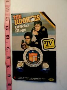 The Rookies RARE Toys Official Rings / set of 2 Kate Jackson Sealed B30