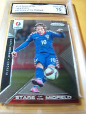 LUKA MODRIC CROATIA 2016 PRIZM EURO UEFA STARS OF THE MIDFIELD # 15 GRADED 10