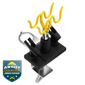 Airbrush Stand - Clamp-on Table Mount - Holds 4