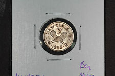 1953 3 Pence New Zealand - KM# 25.1 - BU/MS
