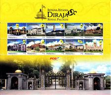 Malaysia 2011 Royal Palaces ~ Sheetlet Mint